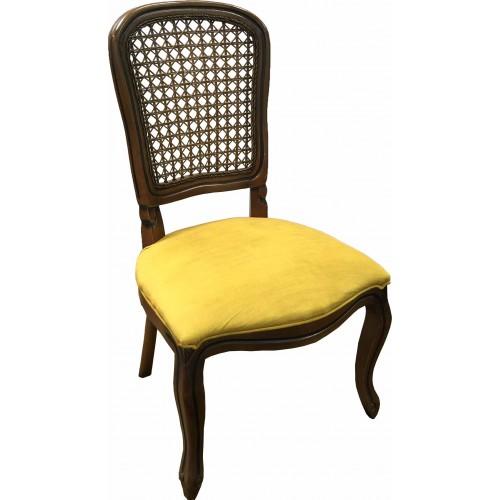 Cadeira Luis Felipe II sem Braço - Encosto Tela/Assento Fixo
