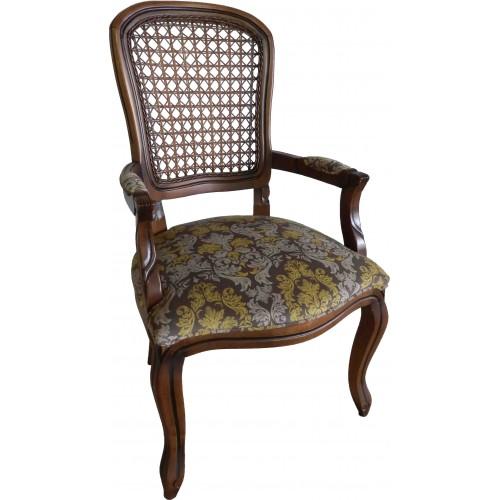 Cadeira Luis Felipe II com Braço - Encosto Tela/Assento Fixo