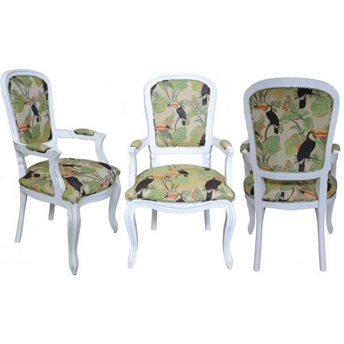Cadeira Luis Felipe II com Braço - Encosto Liso/Assento Fixo