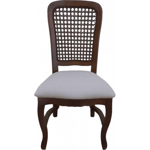 Cadeira Luis Felipe III sem Braço - Encosto Tela/Assento Removível - Empilhável