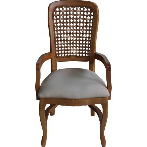 Cadeira Luis Felipe III com Braço - Encosto Tela/Assento Removível - Empilhável