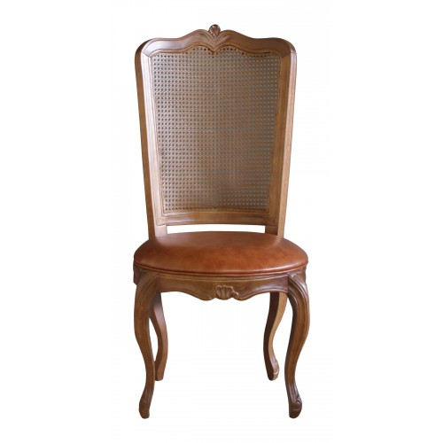 Cadeira Luis XV II sem Braço - Encosto Tela Sintética Portuguesa/Assento Fixo