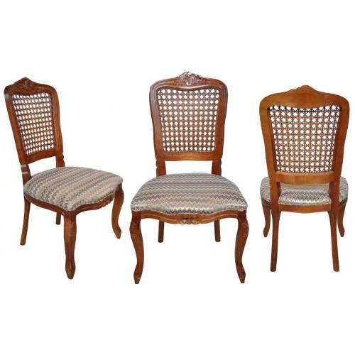 Cadeira Luis XV sem Braço - Encosto Tela/Assento Fixo
