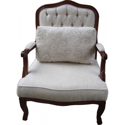 Poltrona Imperatriz - Encosto Capitone/Assento Almofada Fixa