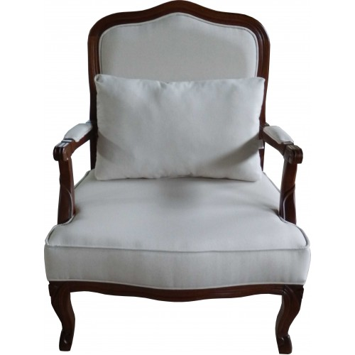 Poltrona Imperatriz - Encosto Liso/Assento Almofada Fixa