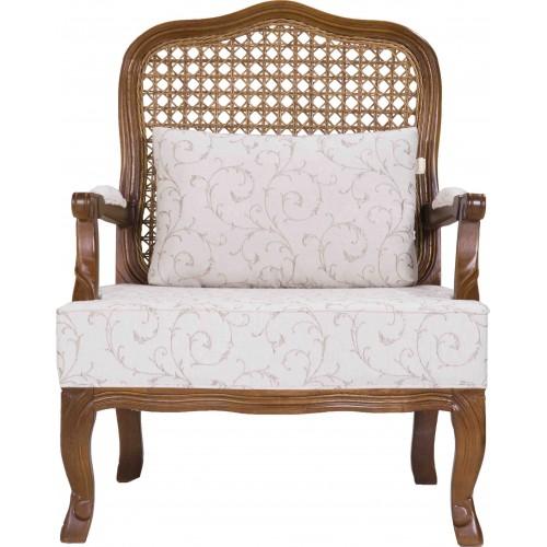 Poltrona Imperatriz - Encosto Tela/Assento Almofada Fixa