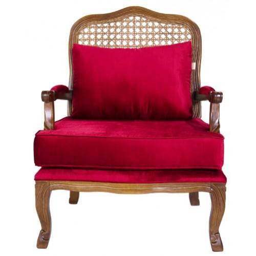 Poltrona Imperatriz - Encosto Tela/Assento Almofada Solta