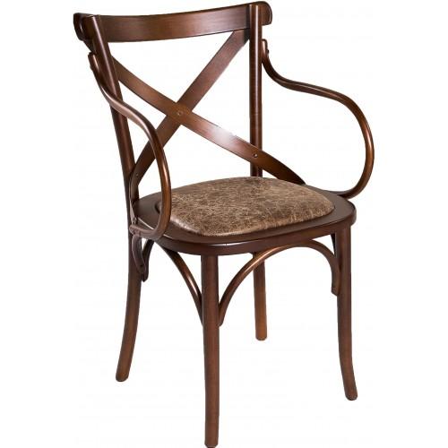 Cadeira Aretha - Com Braço - Almofada no Centro