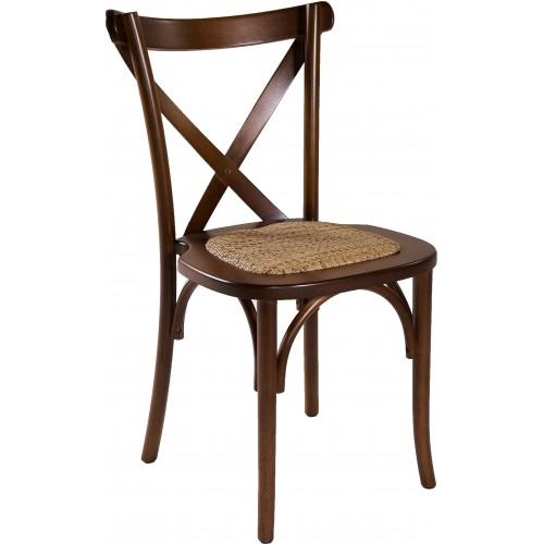 Cadeira Aretha - Assento Palha - Empilhável