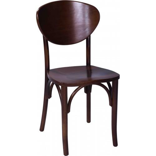 Cadeira Charles - Encosto Madeira